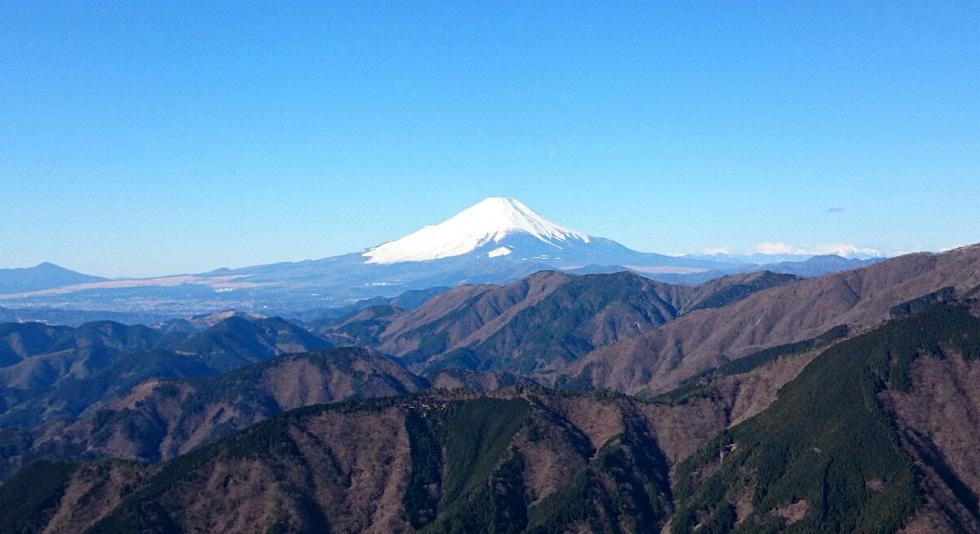 丹沢三ノ塔からの富士山