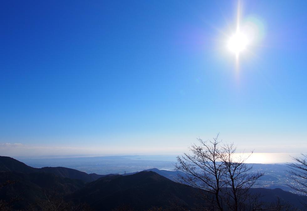 三ノ塔から見る駿河湾
