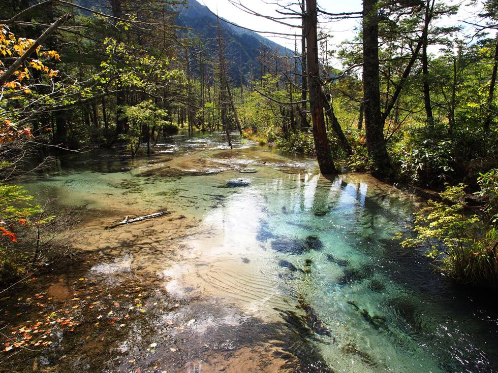 透明な梓川
