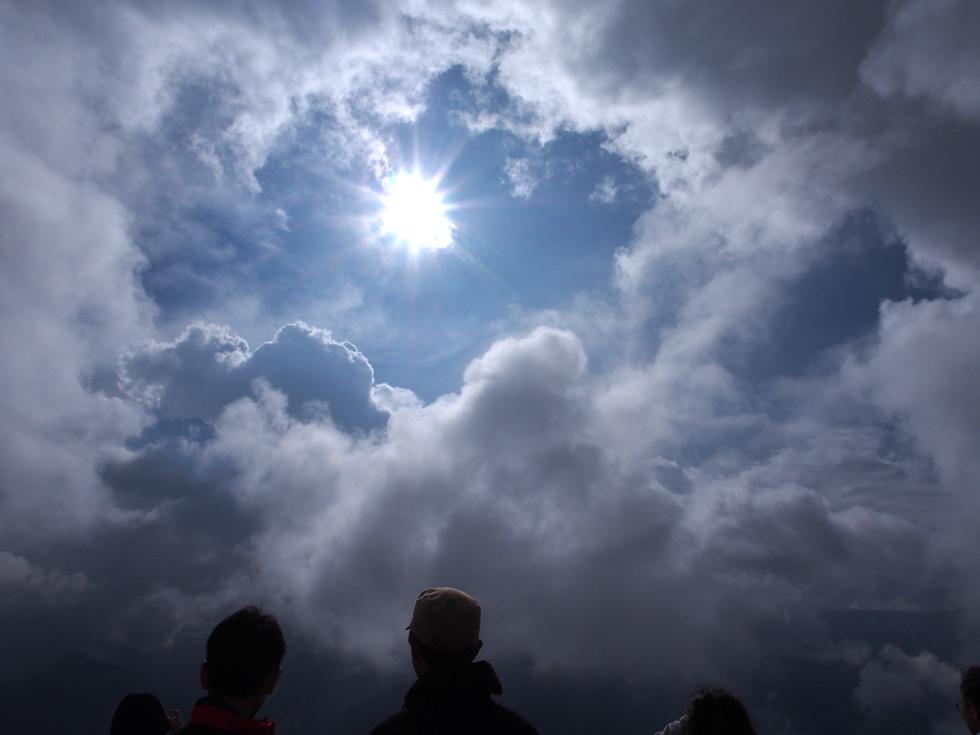 燕山荘から見える太陽
