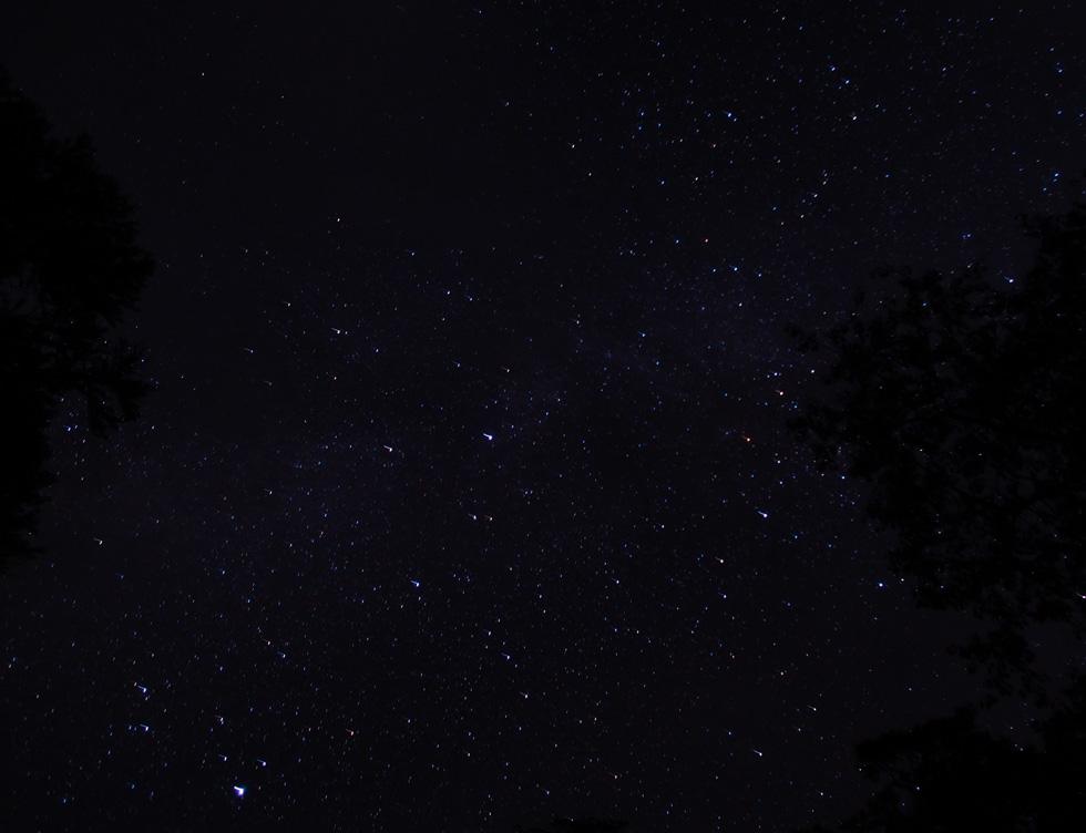 徳沢キャンプ場から見る星空