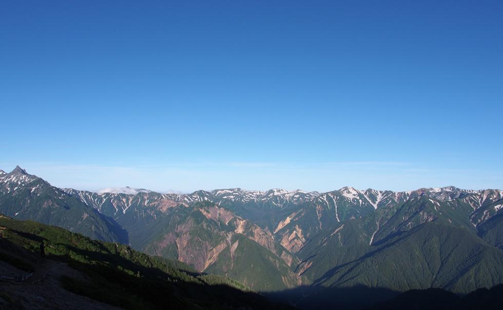 燕岳から見る槍ヶ岳