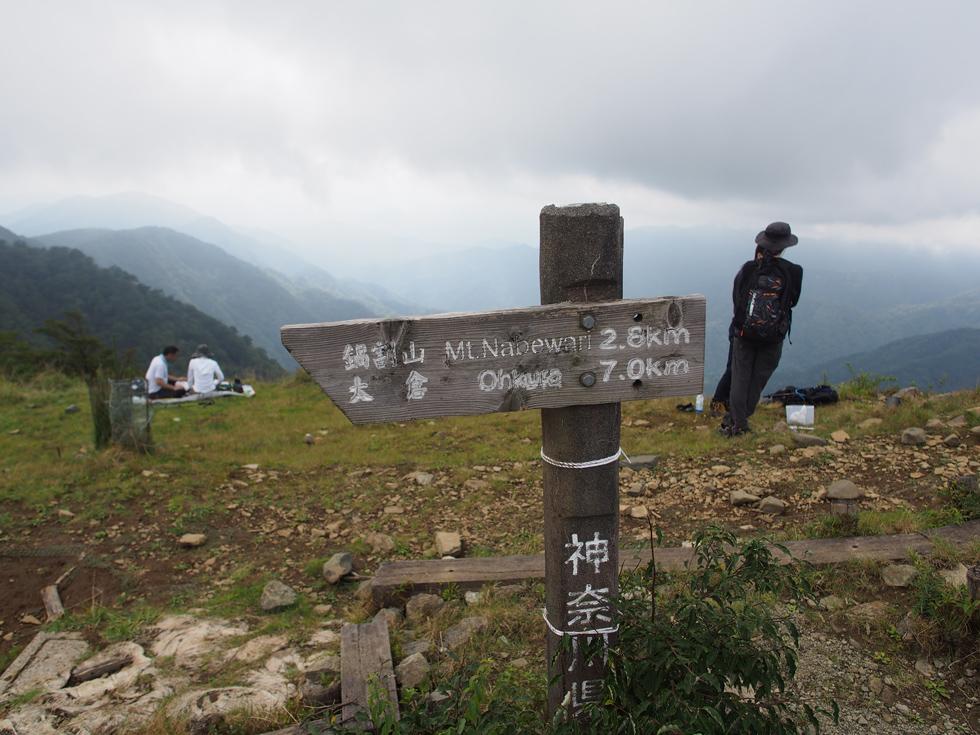 頂上から大倉まで7km
