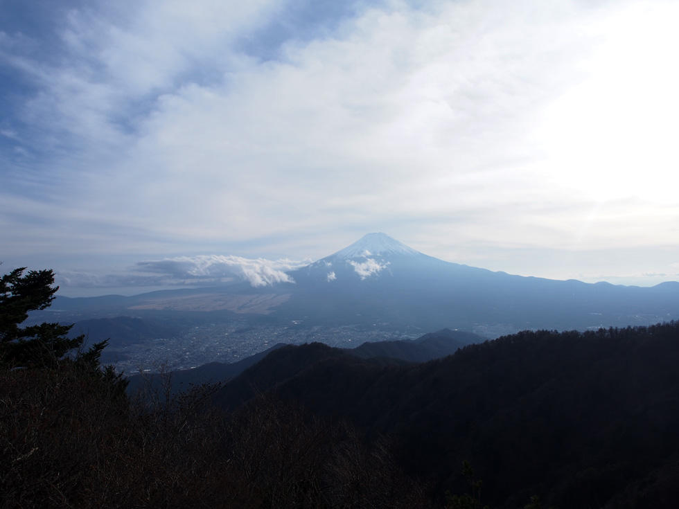 開運山から見る富士山