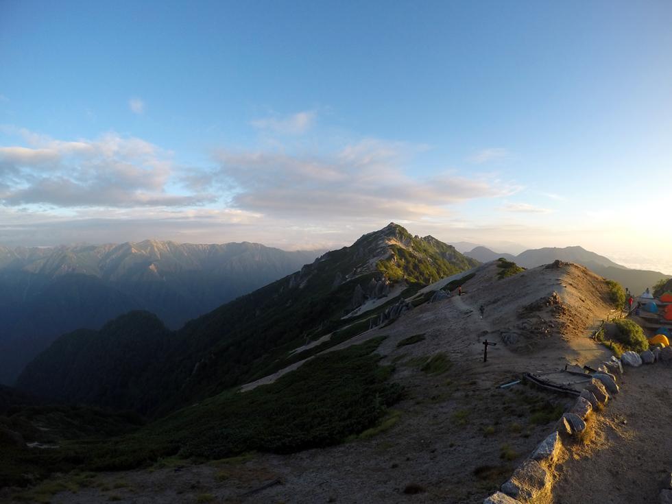GoProで撮影した燕岳の写真