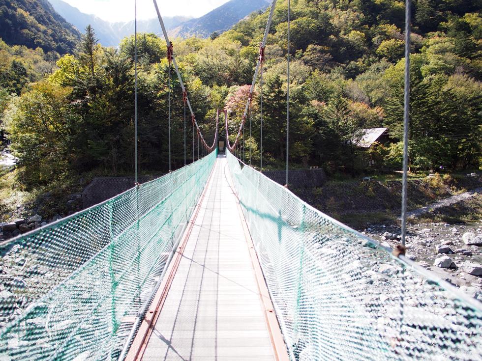 北岳 野呂川にかかる橋