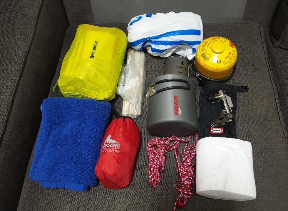 冬季用テント泊小道具