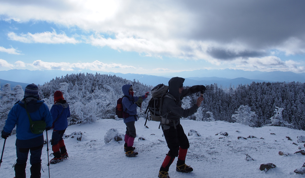 北横岳頂上でカメラ撮影大会