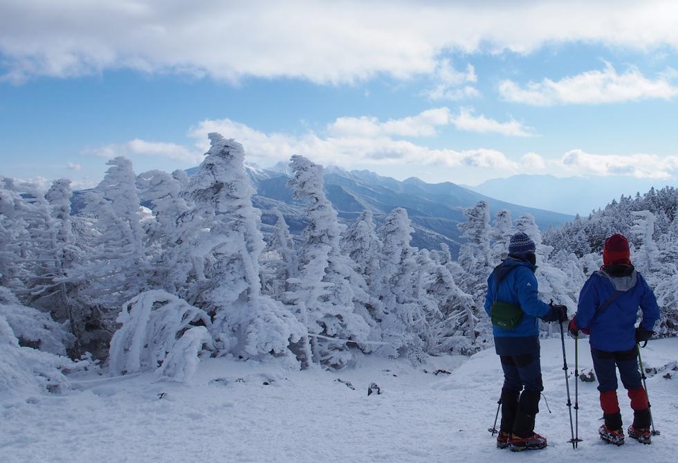 北横岳から見る南八ヶ岳