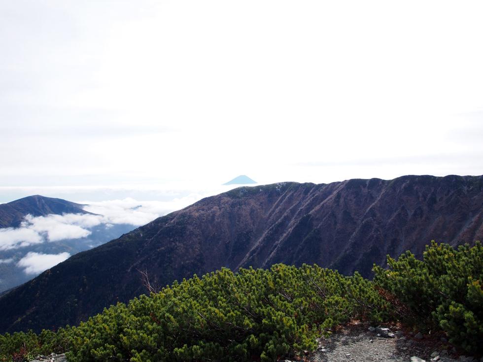 小太郎尾根から見る富士山