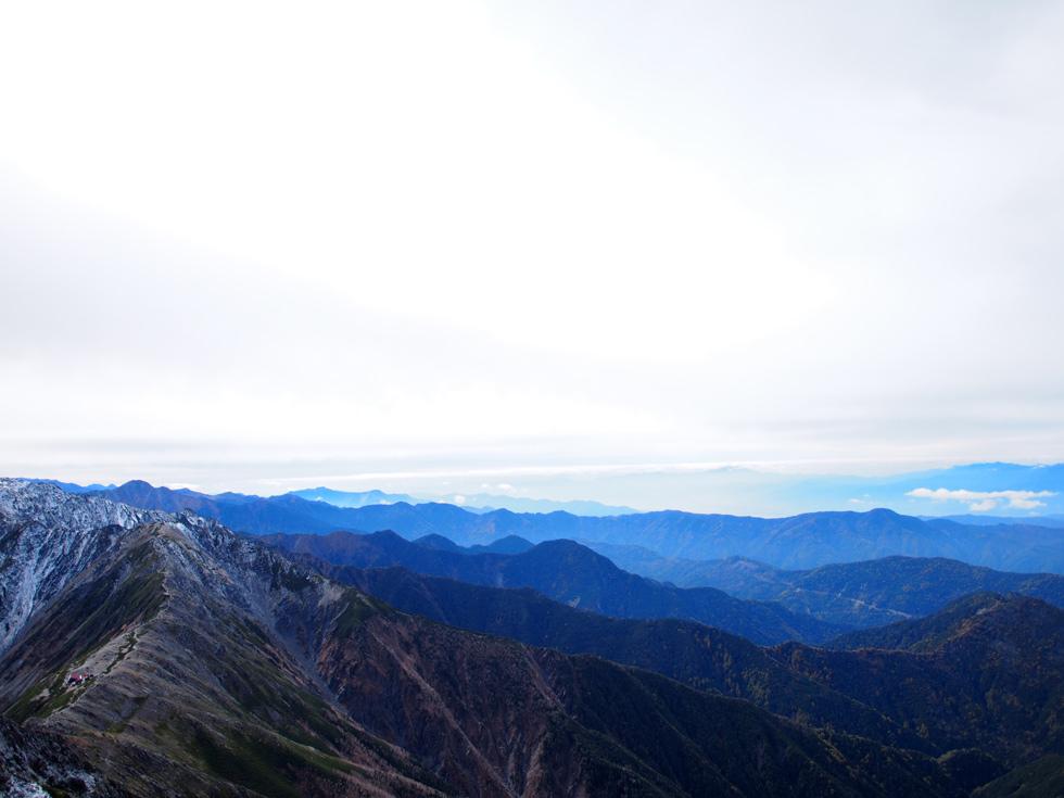 北岳山頂付近