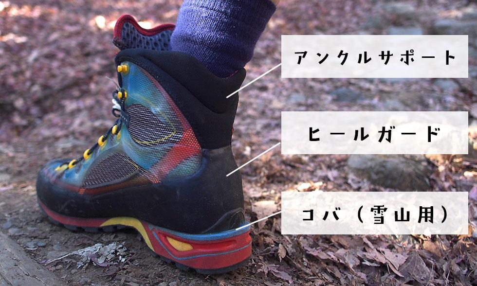 登山靴の構造について