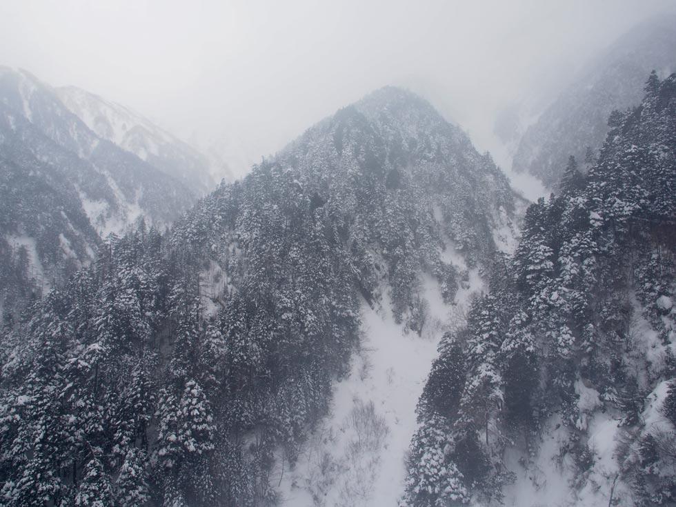 雪景色の木曽駒ケ岳ロープウェイ