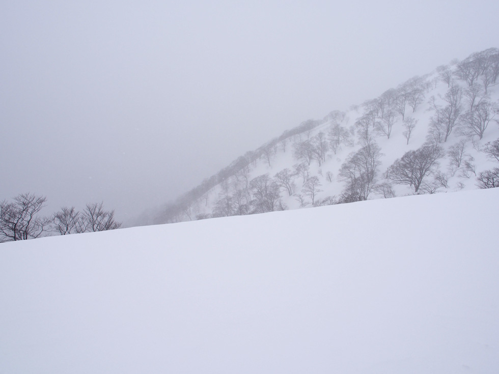 天神尾根の雪庇
