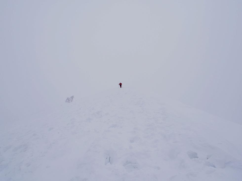 天神尾根の登山者