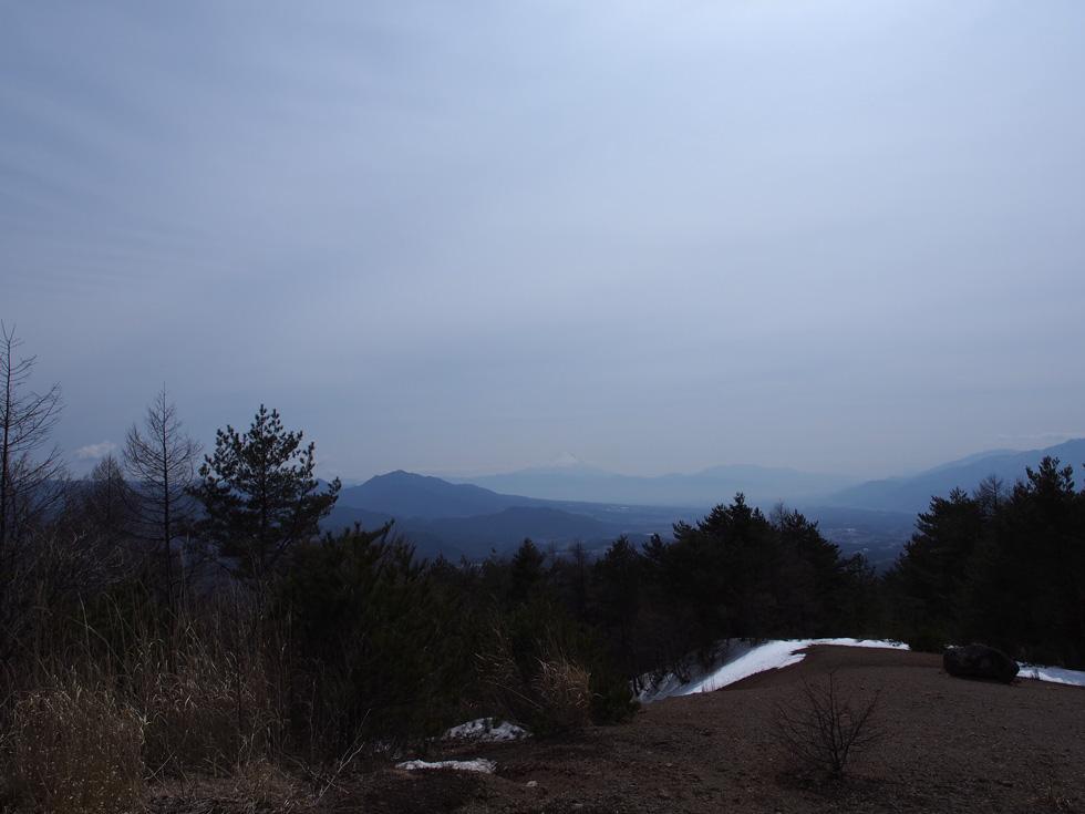 天の河原から見る富士山
