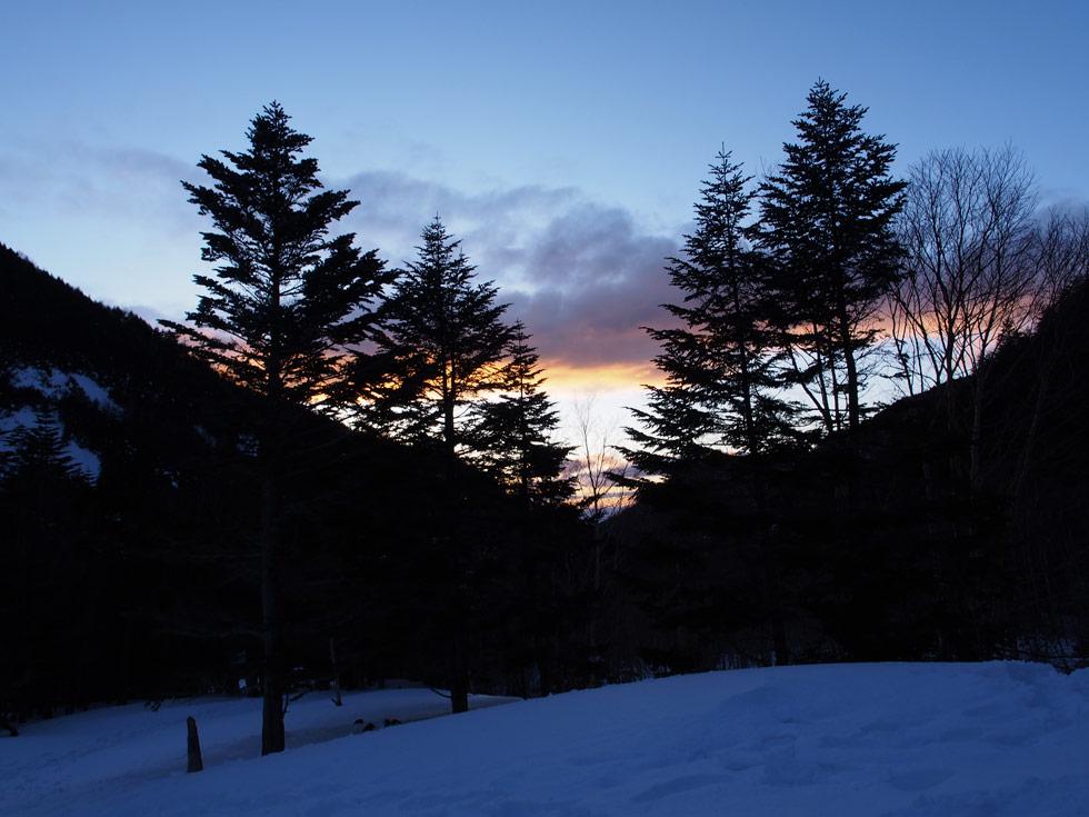 赤岳鉱泉から見る夕焼け