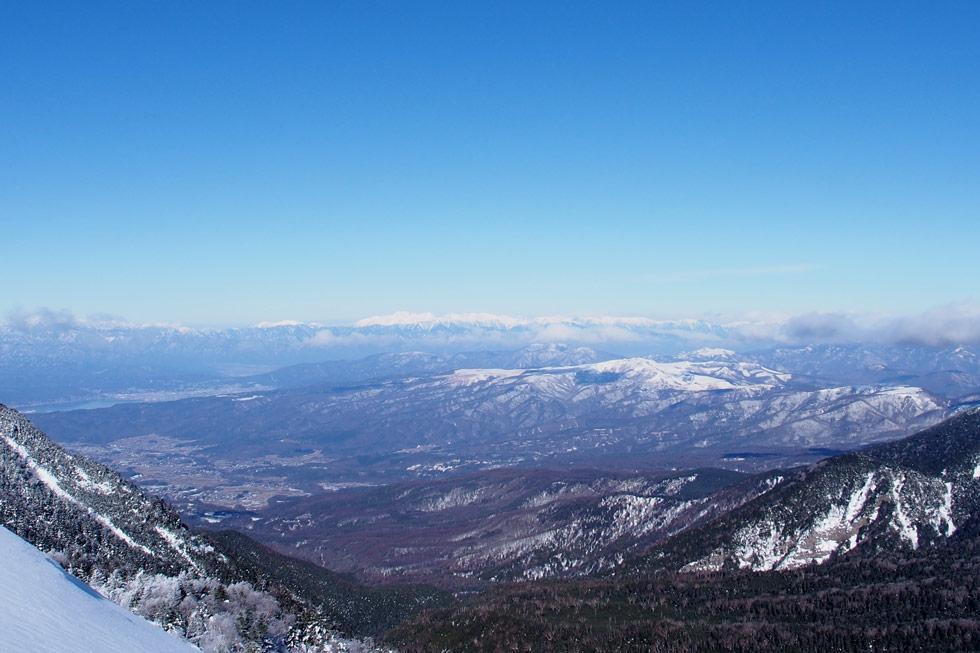 赤岩の頭から見る北アルプス方面
