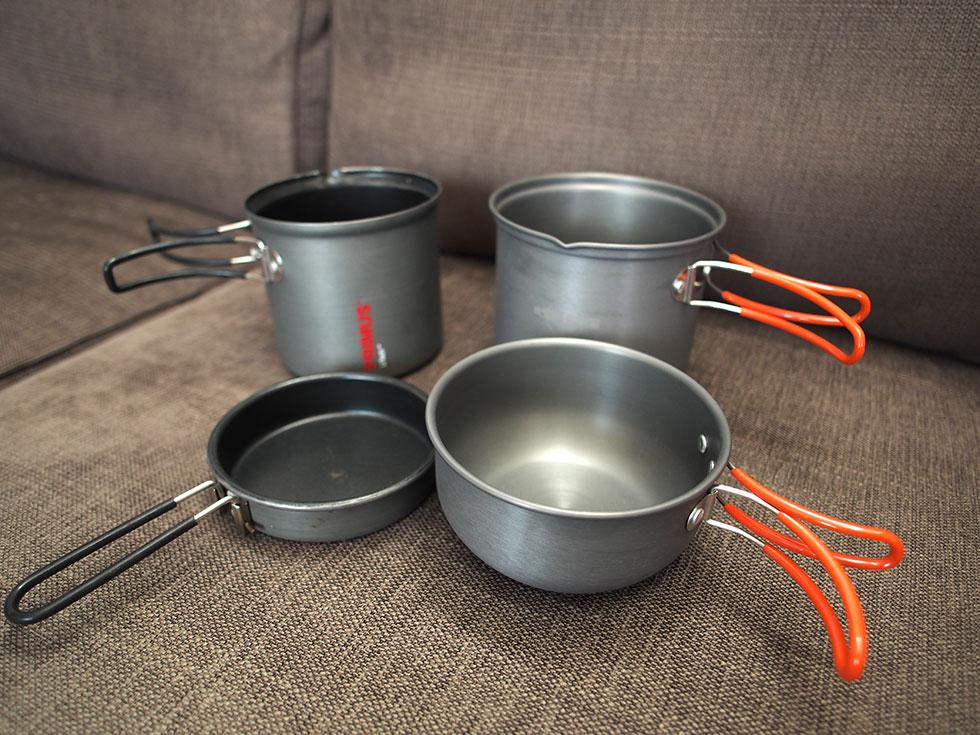 登山の料理道具 クッカー