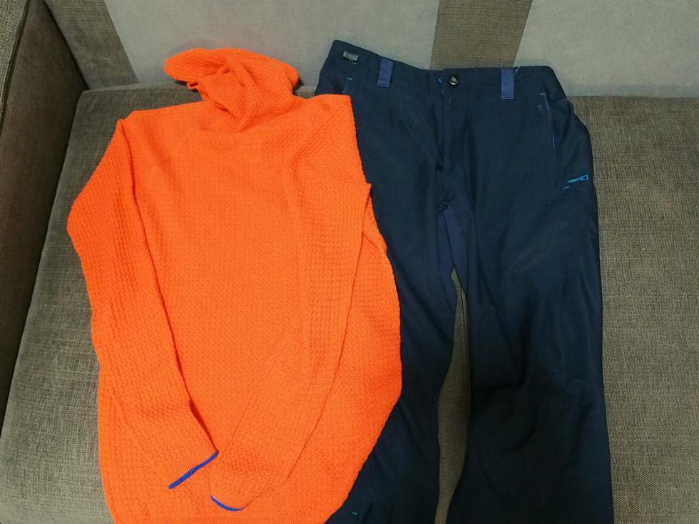 無積雪期の登山の服装