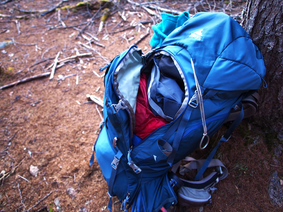 登山のパッキングの方法