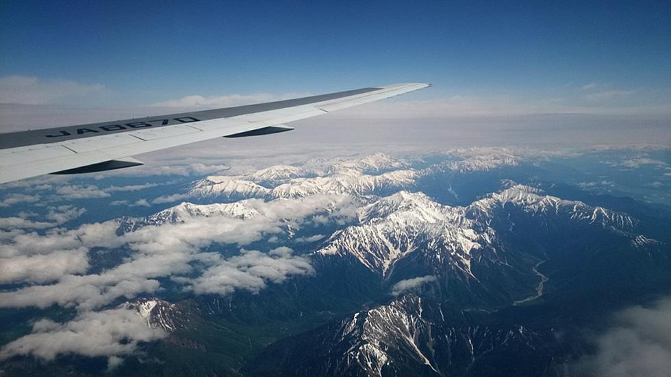 飛行機から見た北アルプス