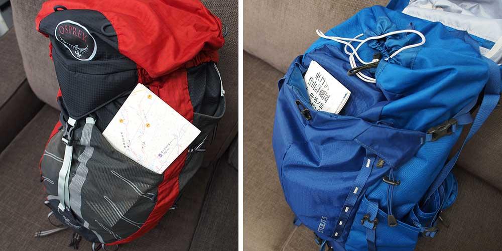 登山リュックの選び方 背面ポケット