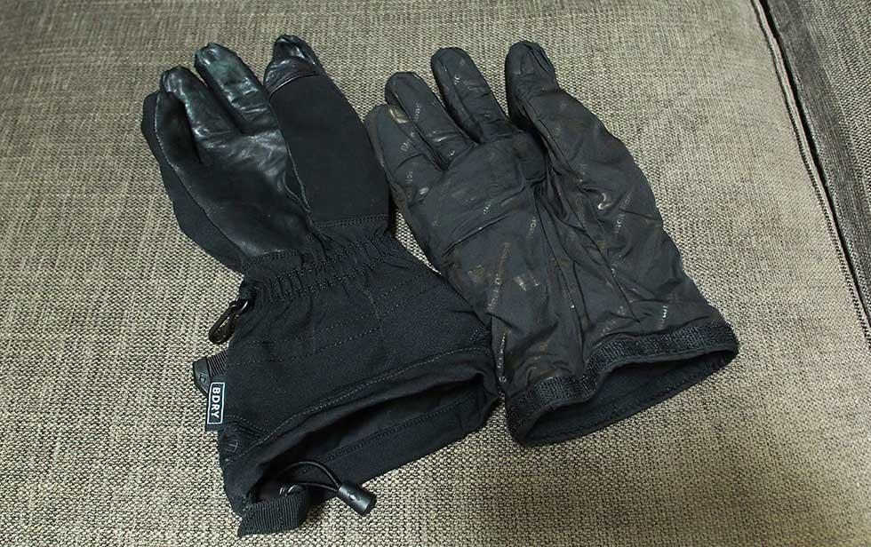 登山用の手袋の使い方 厳冬期