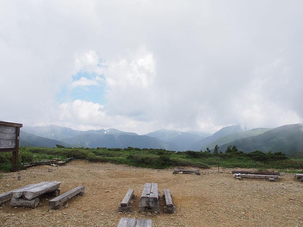 太郎平小屋からの景色