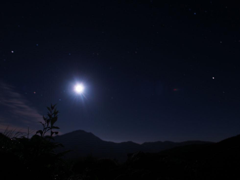 雲ノ平テント場から見る星空