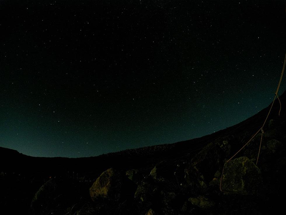 雲ノ平テント場から見た星空