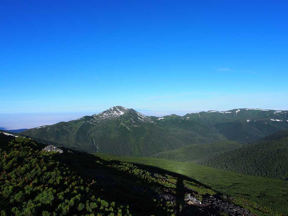 祖父岳から見る黒部五郎岳