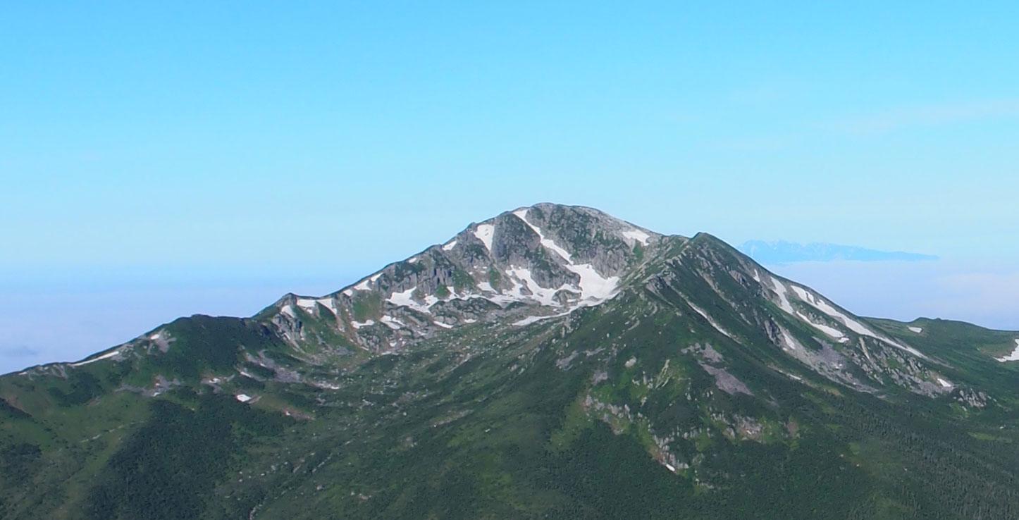 黒部五郎岳のアップ