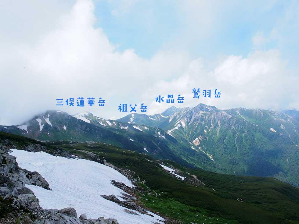 鷲羽岳を振り返る