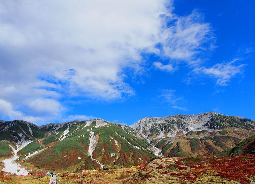 紅葉の立山連峰