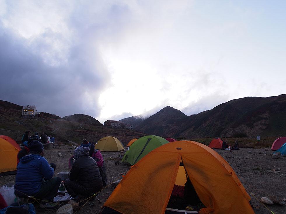 夕食後 雷鳥沢キャンプ場を散策