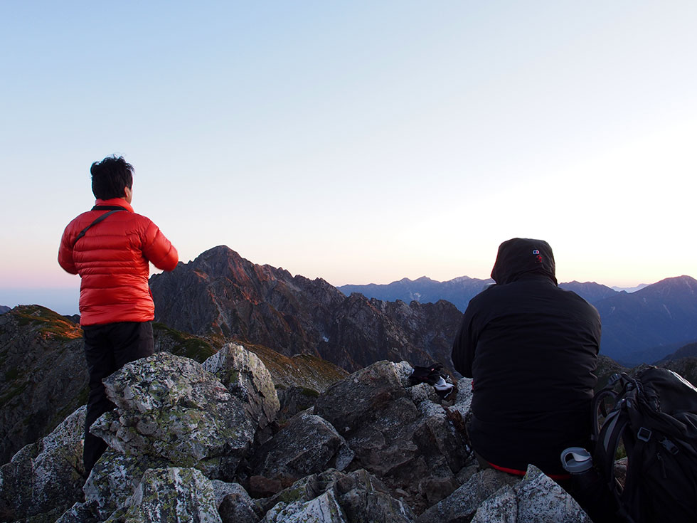 剱温前山から見る剱岳
