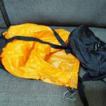 冬季用シュラフで使っているコンプレッションバッグ イスカ(ISUKA) の圧縮収納袋をレビュー