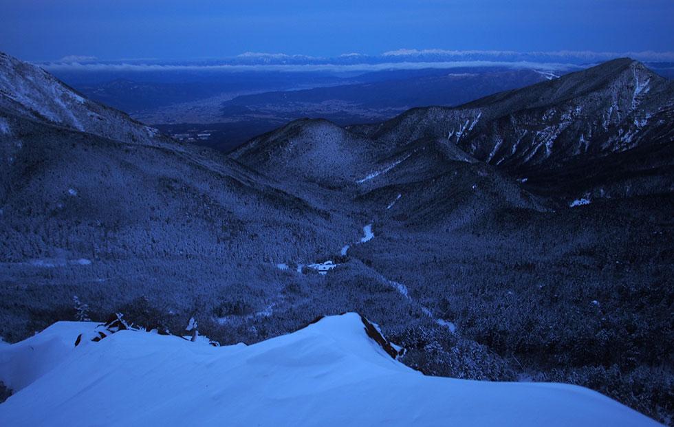雪の赤岳 地蔵尾根