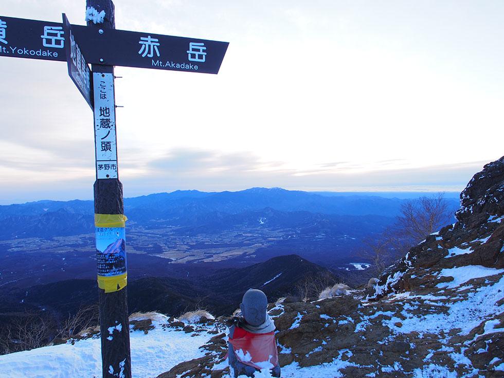 雪の赤岳 地蔵の頭