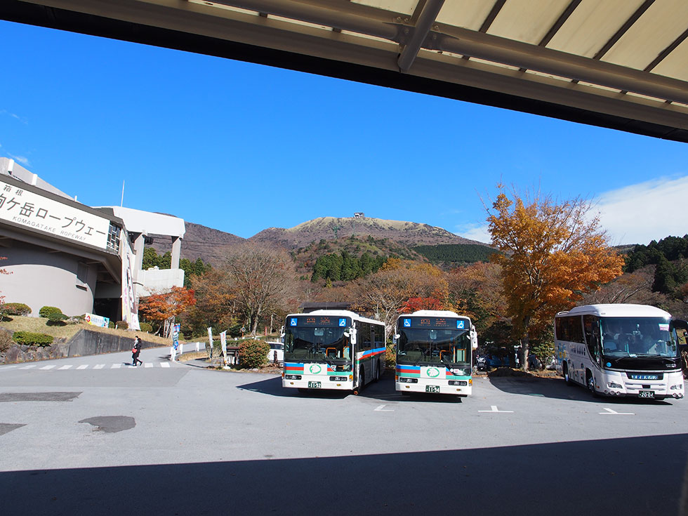 箱根駒ケ岳前のバス停