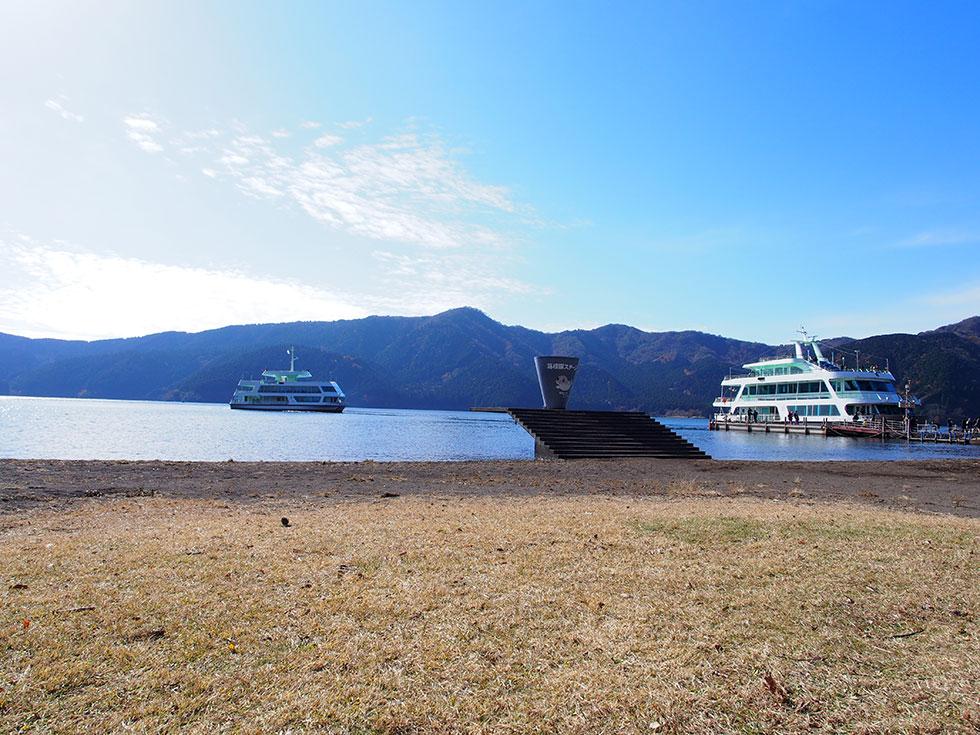 箱根駒ケ岳前の芦ノ湖