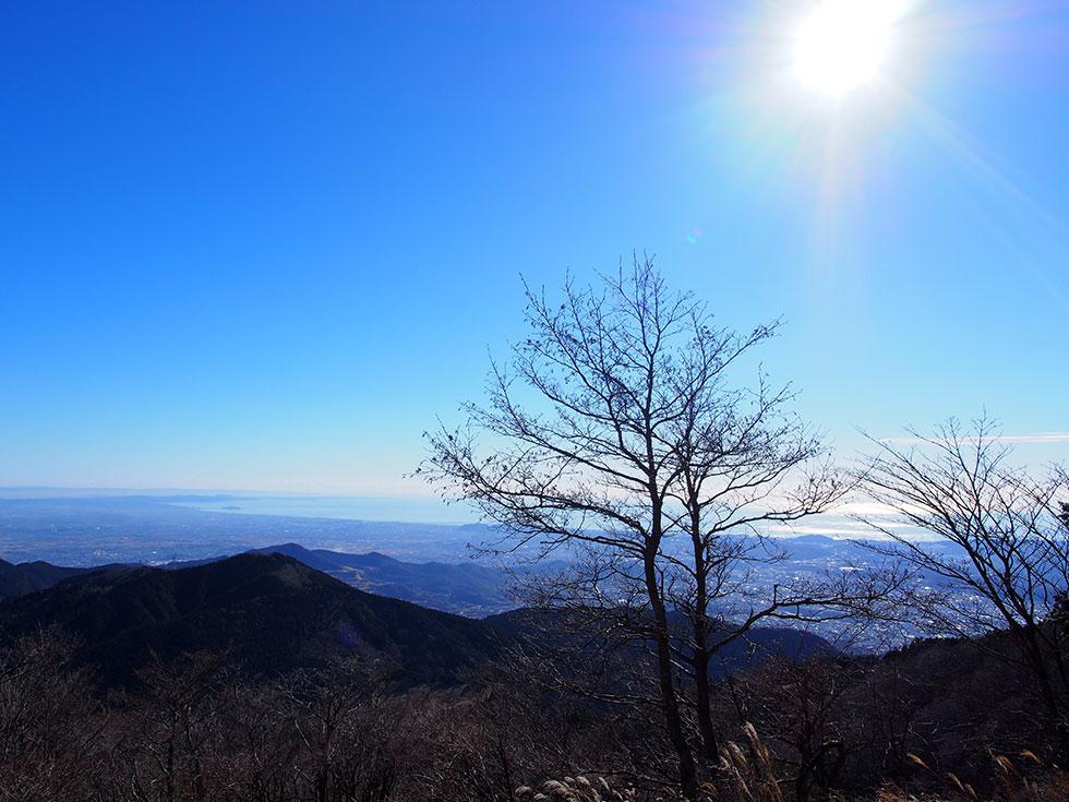 丹沢 二ノ塔の山頂直下