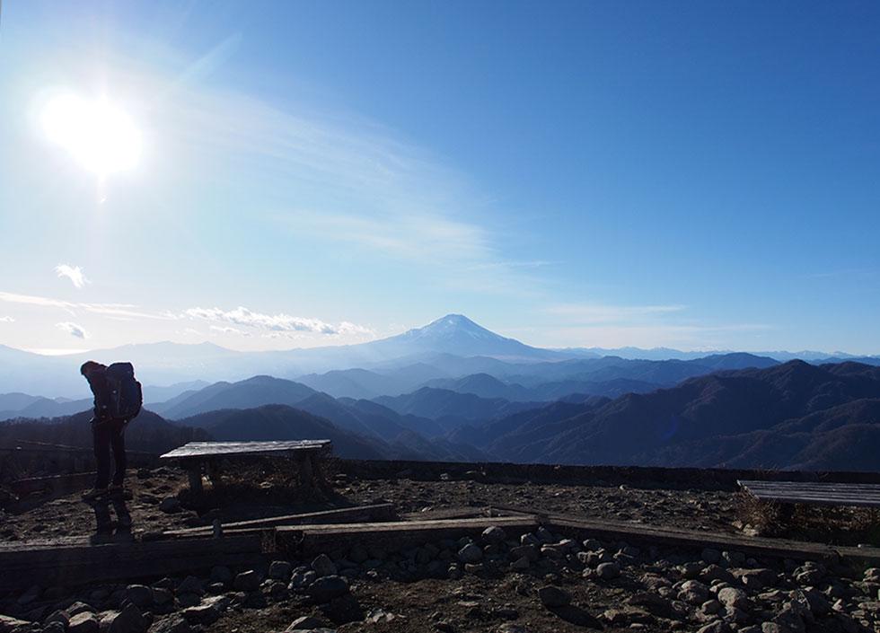 塔ノ岳から見る富士山
