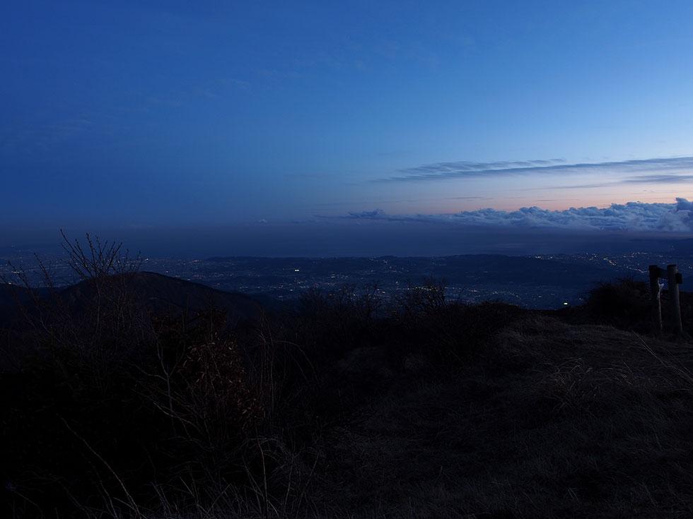 日没後の塔ノ岳