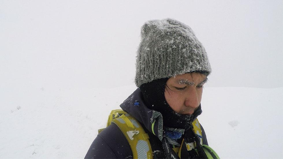 厳冬期の谷川岳を歩く