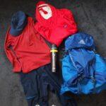 パタゴニアのトレントシェルとRPSロックパンツの登山コーディネート