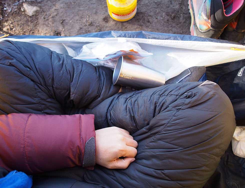テント泊登山の防寒対策