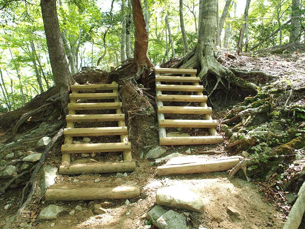 檜洞丸の急登