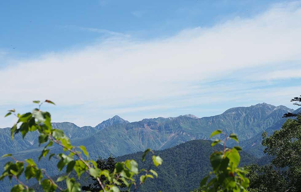 太郎坂から見る立山